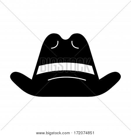 cow boy hat isolated icon vector illustration design