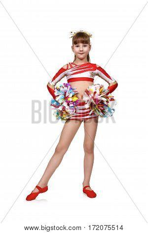 Cheerleading Girl With Pom