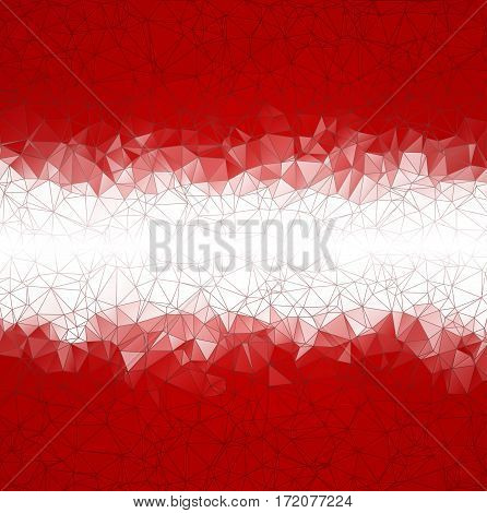 Abstract Low Poly Vector Christmas Background. Pattern Of Triangles. Polygonal Design. White Horizon