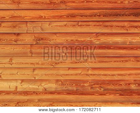 Surface of a wall made of wooden planks background texture.