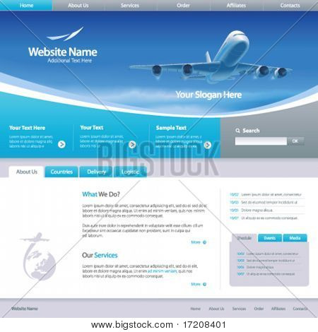 Web site design template 6, vector