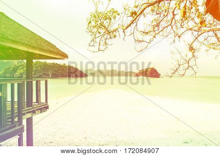 Image beautiful miracle beach with color filters