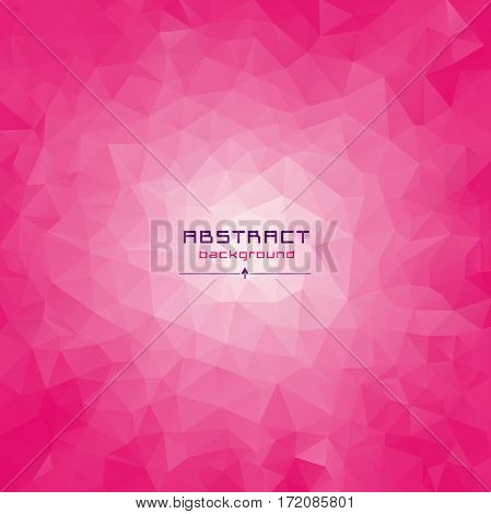 Abstract Multicolored Polygon, Low Polygon Background. Transfusion Of Color. Pink, Burgundy, Purple,