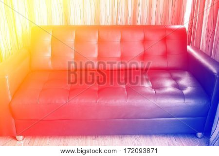 Sofa in living room with color filters