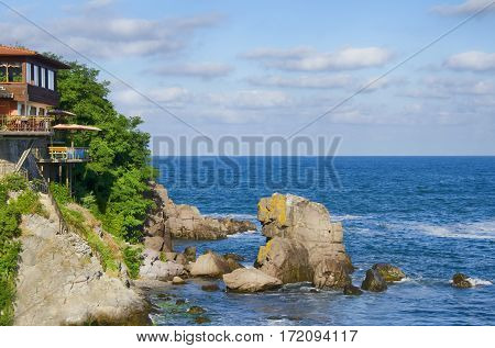Sozopol Old Town at Black Sea in Summertime