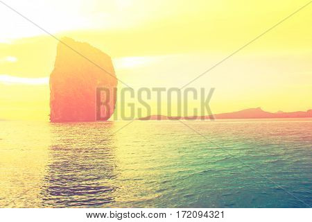 Landmark at Poda island, Krabi Province, Andaman Sea, South of Thailand
