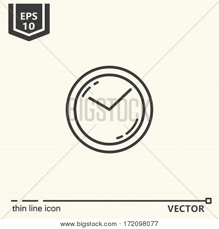 Wall clock. One icon - office supplies, series. EPS 10 Isolated objects