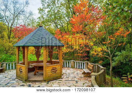 Alcove In The Autumn Garden
