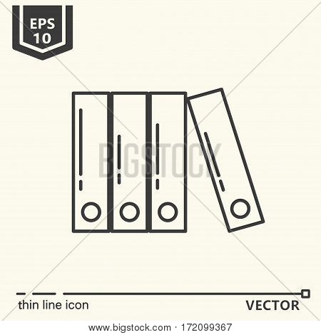 Folders. One icon - office supplies series. EPS 10 Isolated objects
