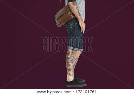 Tattooed Man Messenger Bag