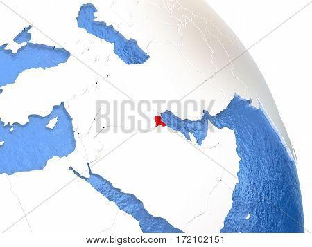 Kuwait On Elegant Globe