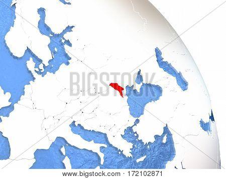 Moldova On Elegant Globe