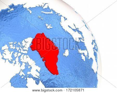 Greenland On Elegant Globe