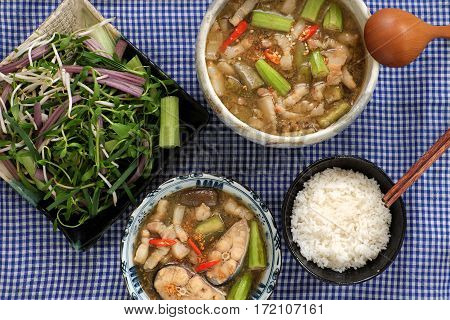 Vietnamese Food For Daily Meal, Mam Kho