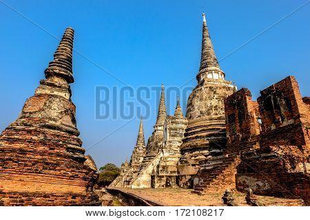 Pagoda in Ayutthaya Historical Park, Ayutthaya, Thailand