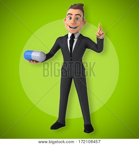 Fun businessman - 3D Illustration