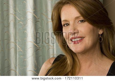 Portrait of a beautiful elegant mature woman.