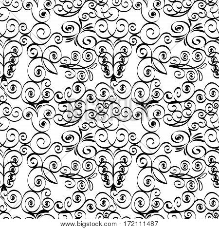 Vector illustration of a grille black and white seamless pattern.