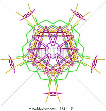 Circle ornament vector graphics of white background.