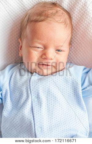 One month old newborn baby