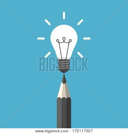 Light Bulb Above Pencil