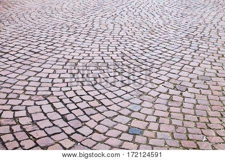 Granite Cobblestone Road Pavement