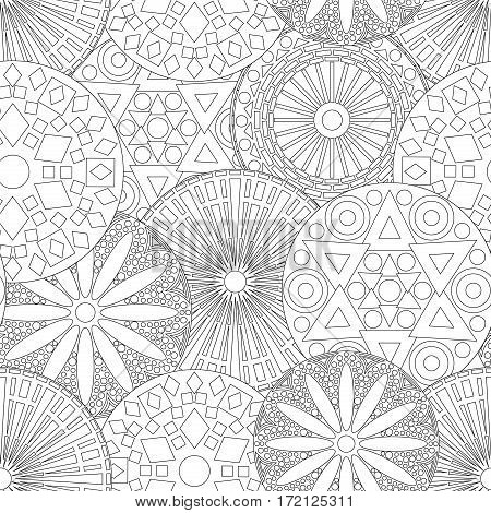 Lacy Seamless Floral Pattern In Black And White