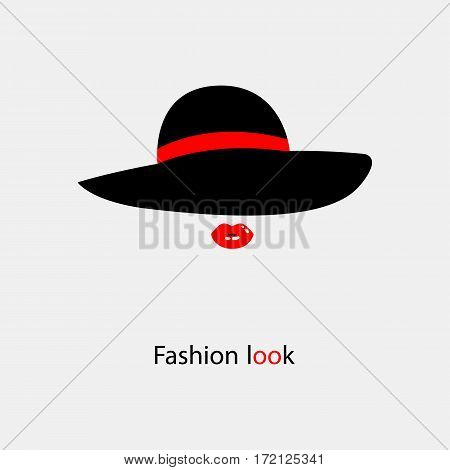 womens elegant hat with bow for ladies with text