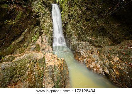 Beautiful nature of Bangpae waterfall at Phuket province Thailand.