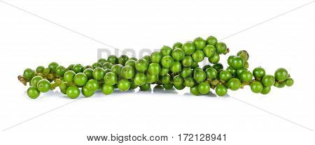 Green Peppercorn Isolated On The White Background