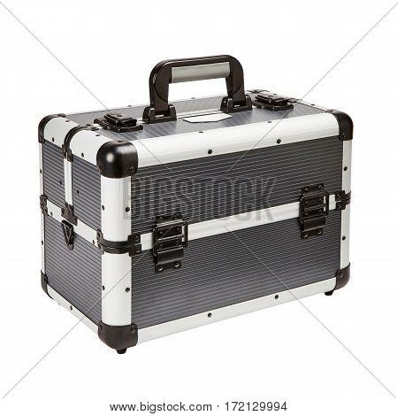 Tool Box. Mechanics Tool Set. Mechanic's Toolbox Isolated On White Background. Plastic Storage Box.
