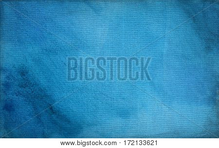 blue canvas with delicate grid to use as grunge horizontal background or texture