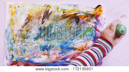 abstract picture paints (postmodernism talent creativity creativity) poster