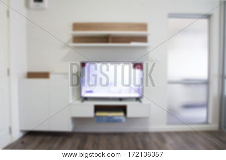 Abstract blurred decorated in the livingroom background