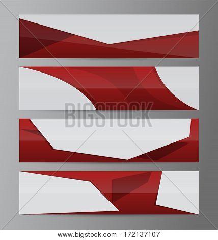 Horizontal Banner Set Presentation Header04