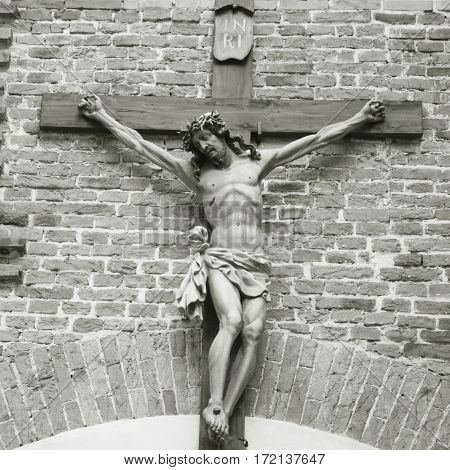 the crucifixion of Jesus Christ as a symbol of God's love for mankind