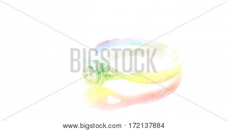 Close up ring dimond with color filters