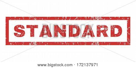 Standard text rubber seal stamp watermark. Caption inside rectangular shape with grunge design and scratched texture. Horizontal vector red ink emblem on a white background.