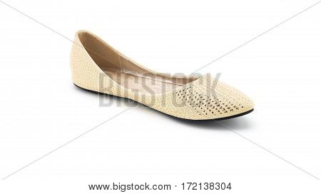 Shoe brown fashion woman shoes on white background