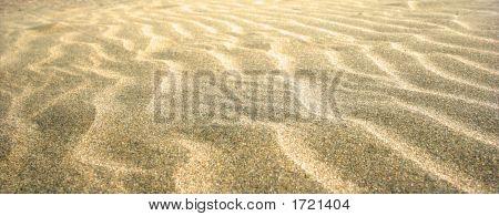 Beautiful Rippled Effect On Sandy Beach.