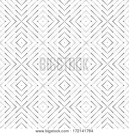 Vector seamless pattern. Modern stylish texture in the form of rhombus tiles. Regularly repeating geometric shapes dotted rhombuses diamonds. Vector element of graphical design