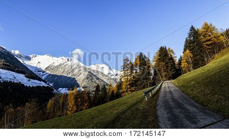 Colorful Sunset In The Valle Aurina