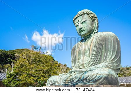 The Giant Buddha Or Daibutsu In Kamakura, Japan