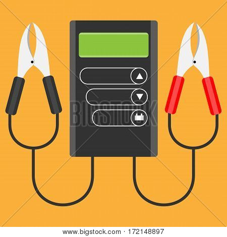 Car Battery Tester.Vector illustration in flat style