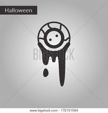 black and white style icon of halloween zombie eyes
