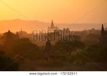 The Temples of , Bagan(Pagan), Mandalay, Myanmar
