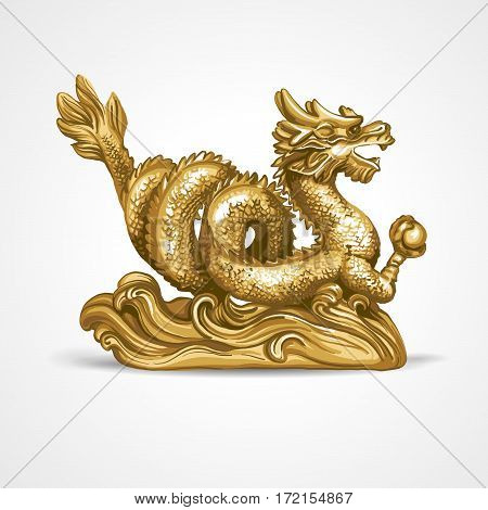 The gold dragon. The symbol of Feng Shui.
