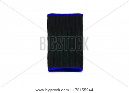 Close up knee support on white background