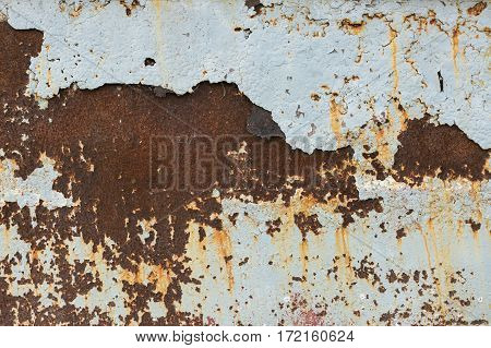 Background texture of Rusted steel. Corrosion of metal.