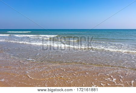 Mediterranean coast just to go for a walk listening the waves and feeling the sun